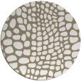 rug #342741 | round white animal rug