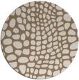 rug #342753 | round mid-brown rug