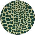 rug #342805 | round blue-green rug