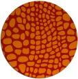 rug #342845 | round red animal rug