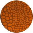 rug #342865 | round red-orange rug