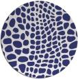 rug #342881 | round blue animal rug