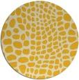 rug #342889   round yellow animal rug