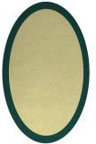 rug #343861 | oval yellow rug