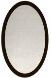 rug #343953 | oval plain brown rug