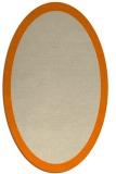 rug #343973 | oval plain orange rug