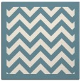 rug #353889 | square blue-green borders rug