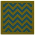 rug #353925 | square green borders rug