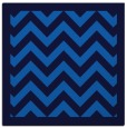 rug #354033 | square blue borders rug