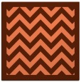 rug #354065 | square orange borders rug