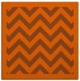 rug #354129 | square red-orange borders rug