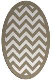 rug #354217 | oval white borders rug