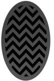 rug #354225 | oval black borders rug