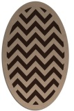 rug #354231 | oval stripes rug