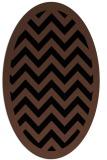 rug #354233 | oval brown rug