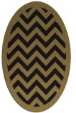 rug #354237 | oval brown retro rug