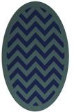 rug #354249 | oval blue borders rug
