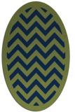 rug #354253 | oval blue borders rug