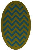 rug #354277 | oval green borders rug