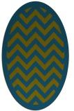 rug #354278 | oval borders rug