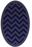 rug #354301 | oval blue-violet borders rug