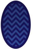 rug #354321   oval blue-violet retro rug
