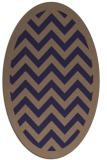 rug #354325 | oval blue-violet retro rug