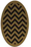 rug #354333 | oval black borders rug