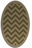 rug #354337 | oval brown stripes rug