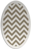 rug #354357 | oval white borders rug