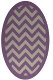 rug #354397 | oval purple borders rug