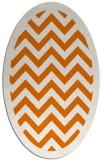 rug #354409 | oval orange borders rug