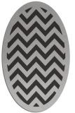 rug #354417 | oval orange stripes rug