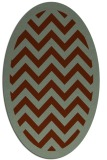 rug #354420 | oval stripes rug