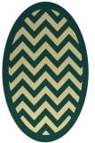 rug #354421 | oval yellow borders rug