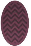 rug #354441   oval purple borders rug
