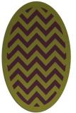 rug #354445 | oval purple borders rug