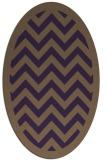 rug #354449 | oval purple stripes rug