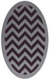 rug #354453 | oval purple rug