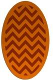 rug #354473   oval red-orange borders rug