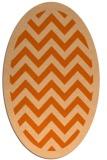 rug #354477   oval red-orange borders rug