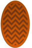 rug #354481   oval red-orange borders rug