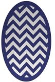 rug #354497 | oval white stripes rug