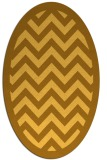 rug #354521 | oval light-orange retro rug