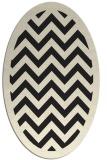 rug #354525 | oval black stripes rug