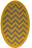 rug #354532 | oval borders rug