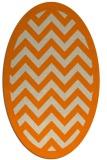 rug #354533   oval beige retro rug