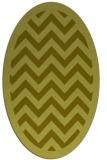 rug #354537 | oval light-green borders rug