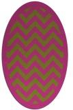 rug #354545 | oval light-green stripes rug