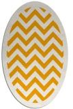 rug #354553   oval light-orange stripes rug